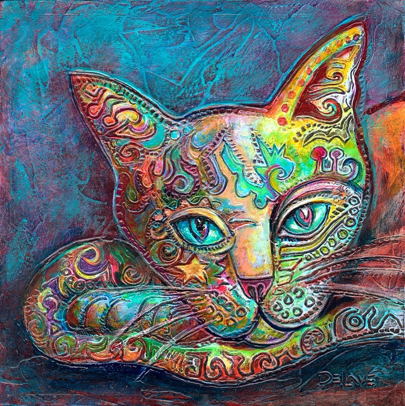 Chi Cat - Mary DeLave Art