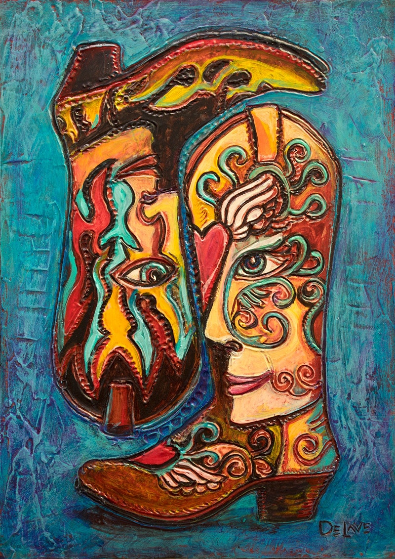 Cowboy Boot Love - Mary DeLave Art