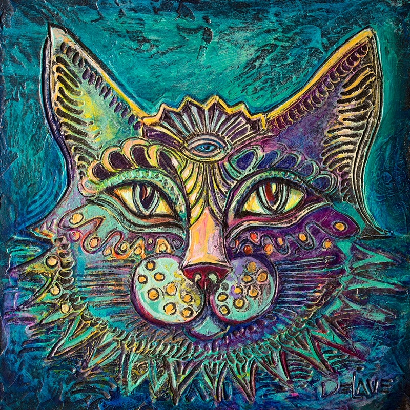 Cat Eyes - Mary DeLave Art