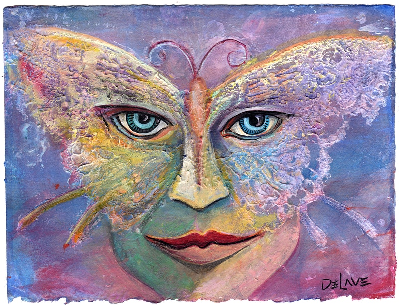 Butterfly Mask 3 - Mary DeLave Art