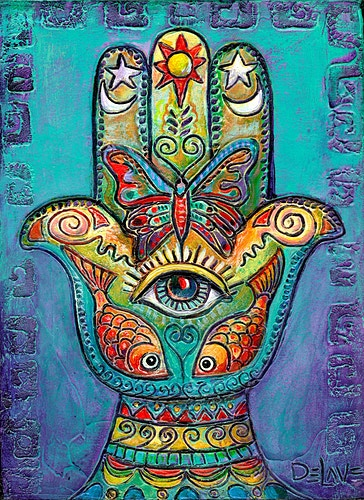 Symbolic Hand-SOLD - Mary DeLave Art