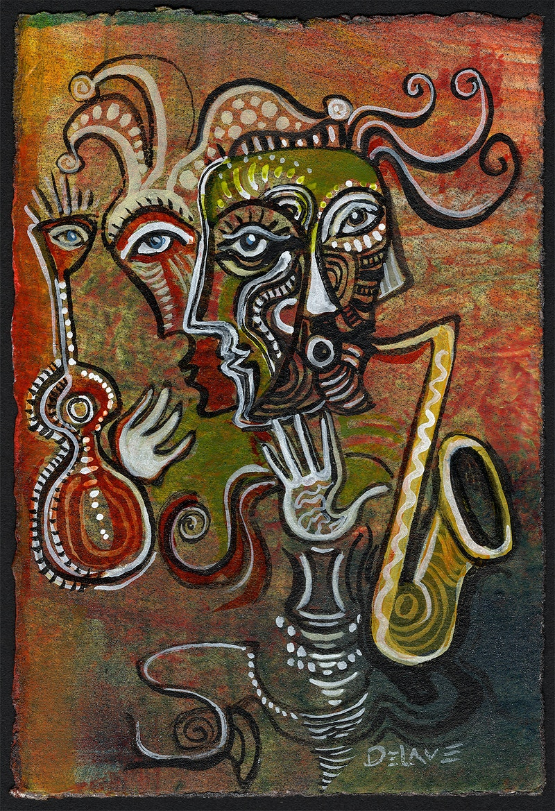 Musical Jester - Mary DeLave Art