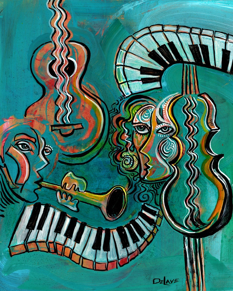 Musical Flow - SOLD - Mary DeLave Art