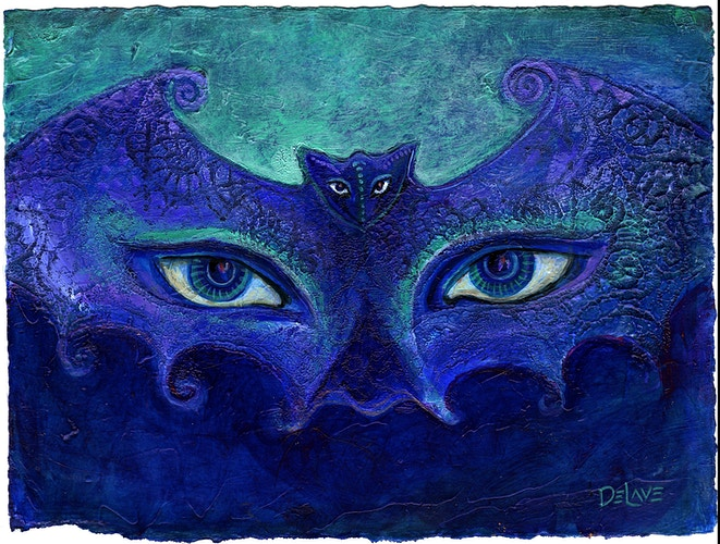 Bat Mask 1 - Mary DeLave Art