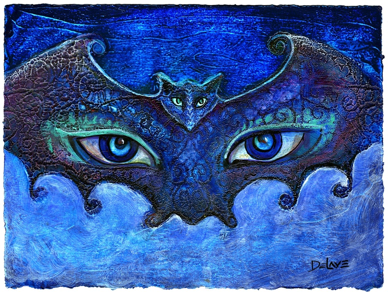 Bat Mask 2 - Mary DeLave Art