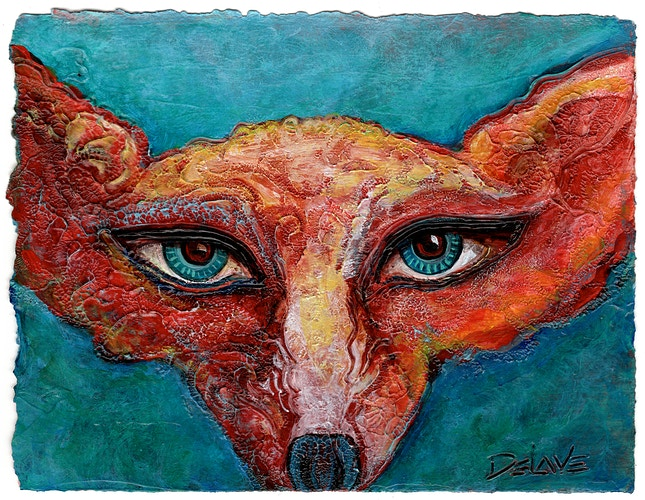 Fox Mask - Mary DeLave Art