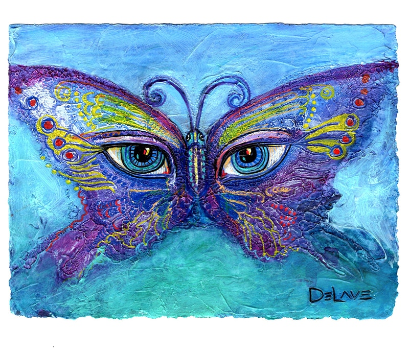 Butterfly Mask 4 - Mary DeLave Art