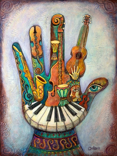 Hand of Music - Mary DeLave Art