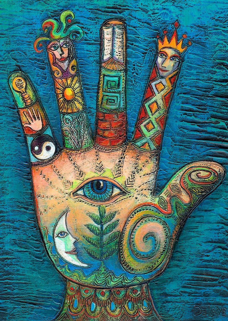 All Seeing Hand - Mary DeLave Art