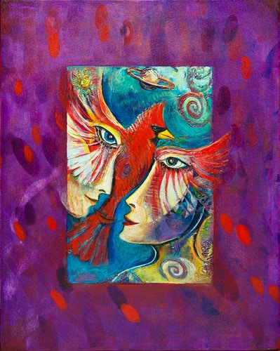Cardinal Fire - Mary DeLave Art
