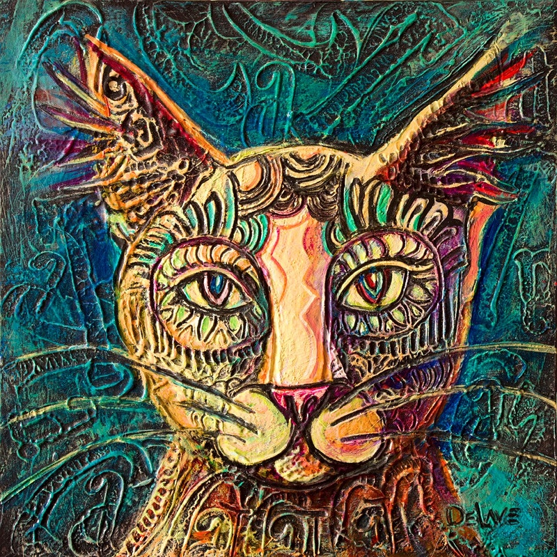 Cat Cat - Mary DeLave Art