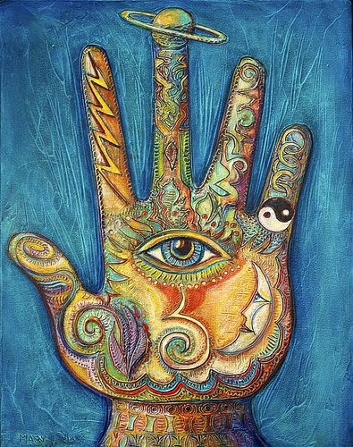 Cosmic Hand - Mary DeLave Art