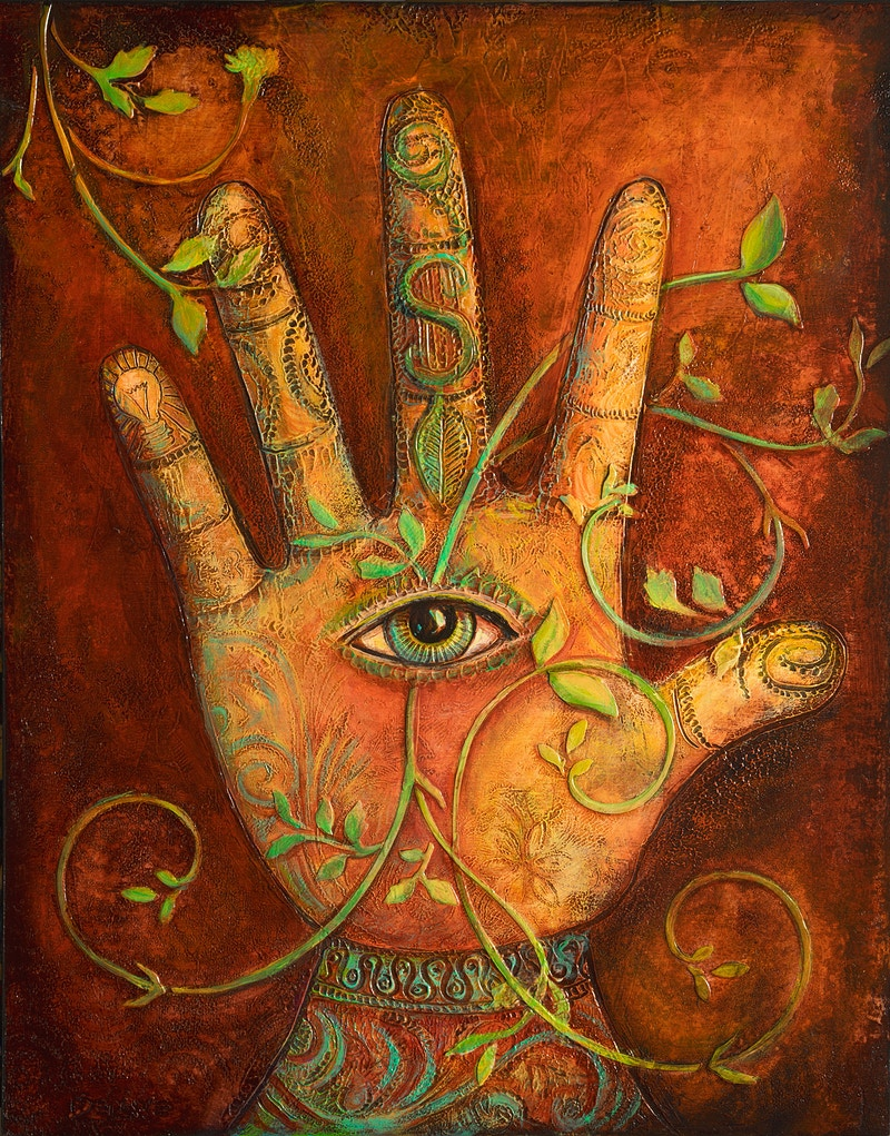 Garden Hand - Mary DeLave Art