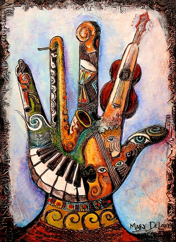 Handful of Music - Mary DeLave Art