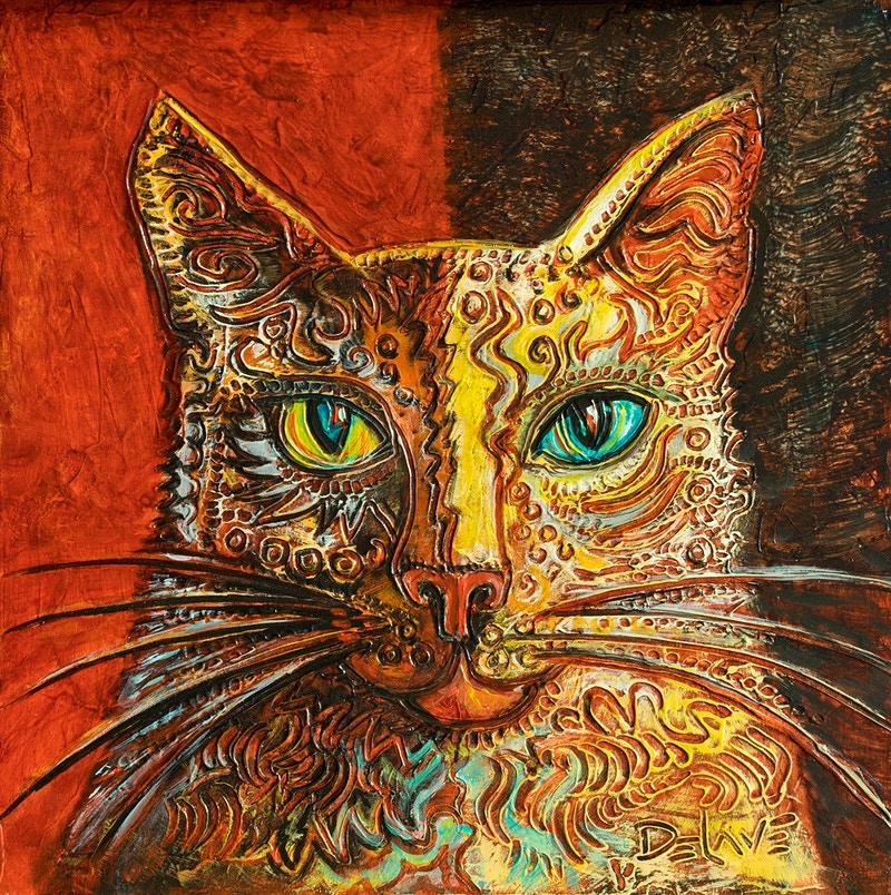 Luna Cat - Mary DeLave Art