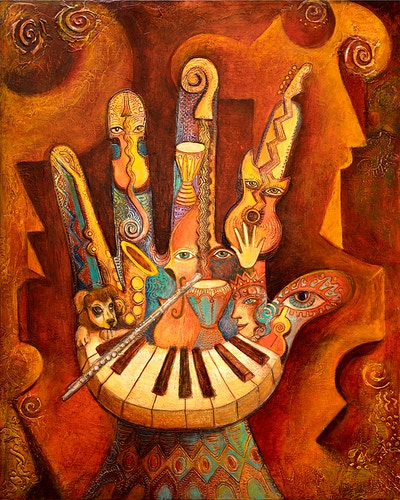 Musically Inclined - Mary DeLave Art