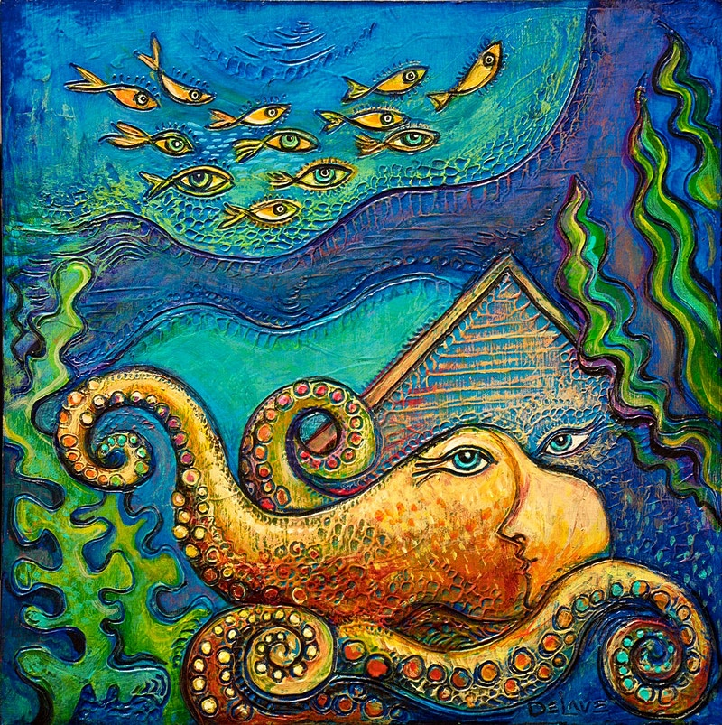 Octopus Haven - Mary DeLave Art