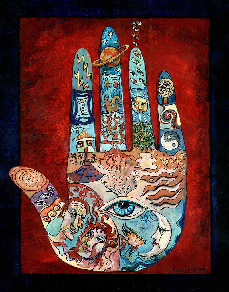 Psychic Hand - Mary DeLave Art