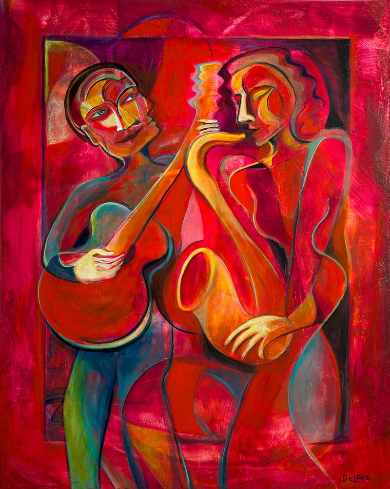 Red Hot Duo - Mary DeLave Art