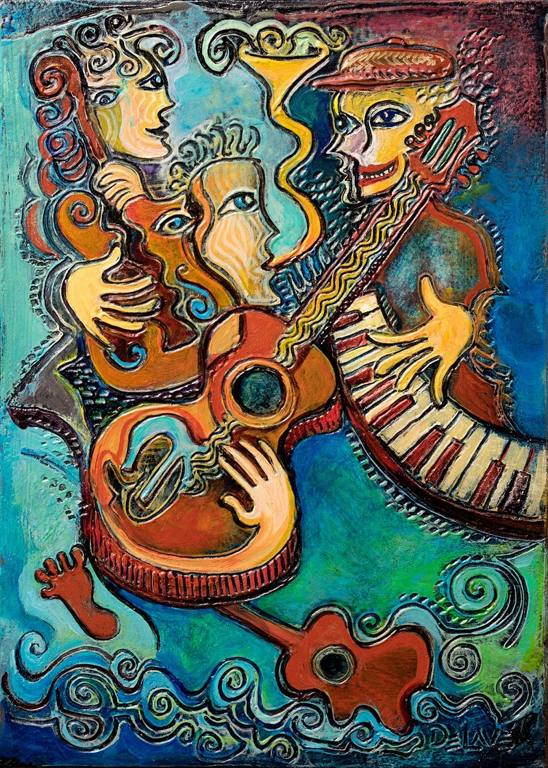 Ocean Tunes - Mary DeLave Art
