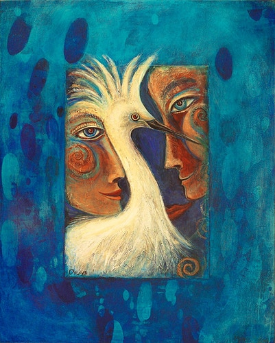 Egret Love - Mary DeLave Art