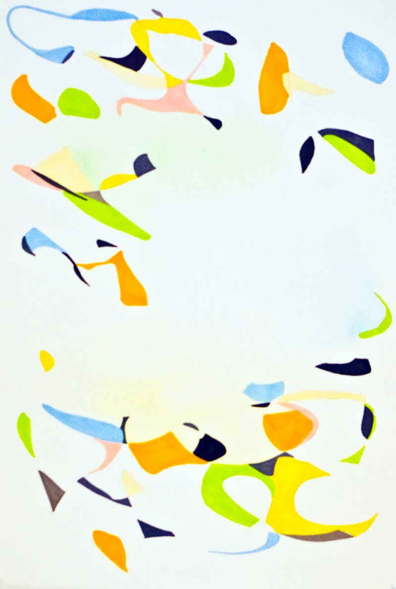 Untitled (Composition in Green, Yellow, and Blue) - Matt Schieren