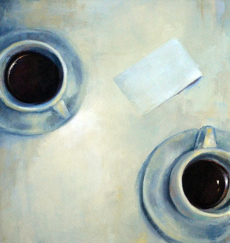 Two Coffees & the Check - Meghan Taylor Art