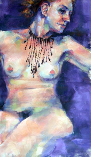 Figure in a necklace - Meghan Taylor Art