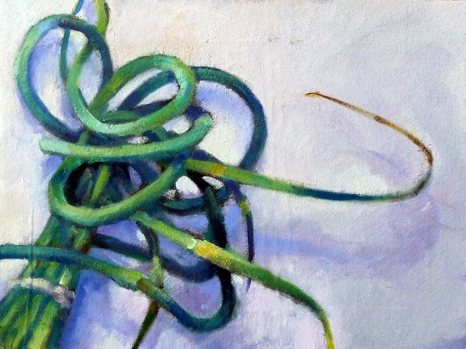 Garlic Scapes - Meghan Taylor Art