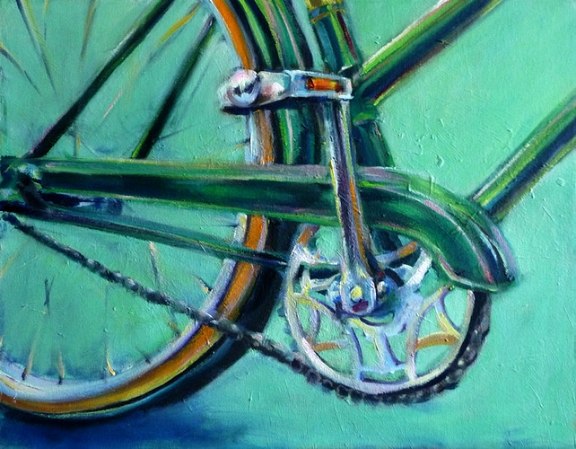 Green Bicycle - Meghan Taylor Art