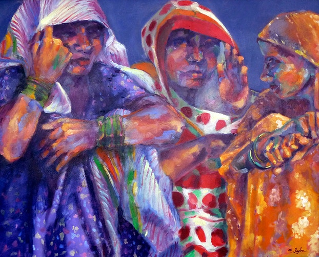 Three Cloth Sellers - Meghan Taylor Art