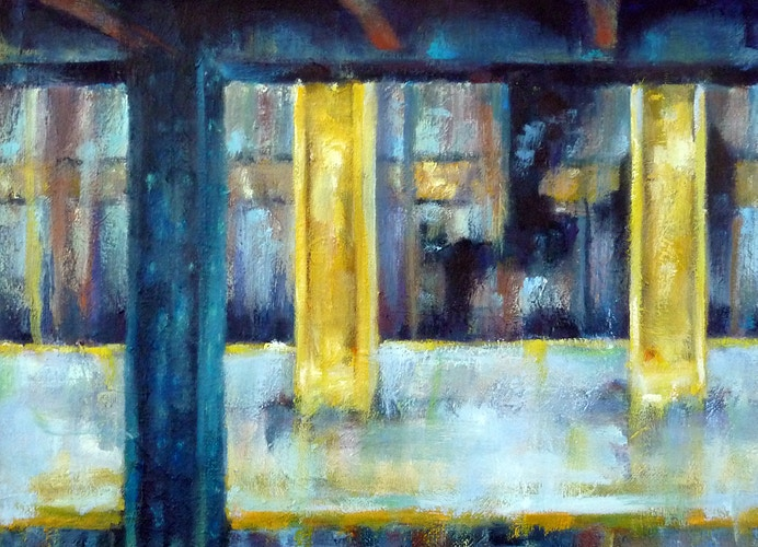 Underneath NYC: 7th Ave on the G line - Meghan Taylor Art