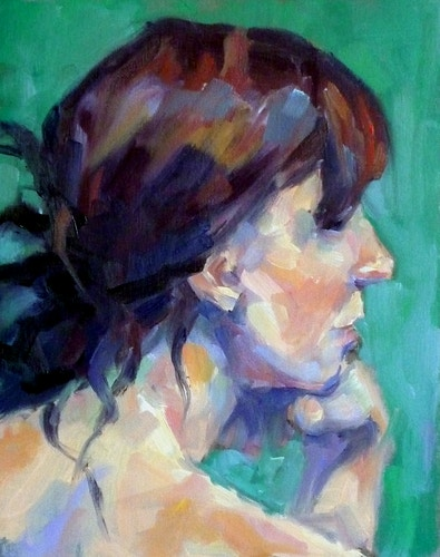 Study of a Woman Looking Over her Shoulder - Meghan Taylor Art