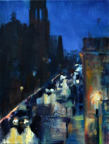 View of the Cathedral One Rainy Morning - Meghan Taylor Art
