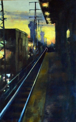 Waiting for the 6:52 - Meghan Taylor Art