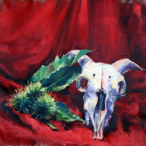 Sheep Skull Still Life - Meghan Taylor Art