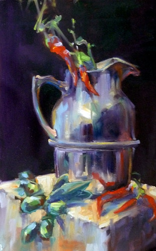 Tuscan Peppers & Olives - Meghan Taylor Art