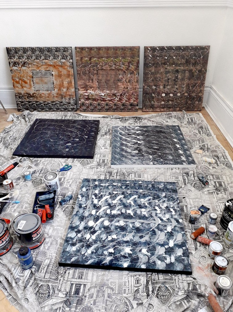 In my studio 2019 - Michael Daks