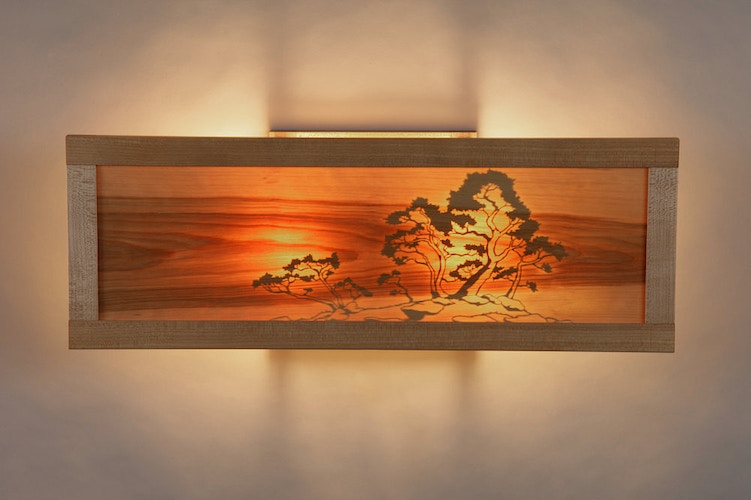 Bonsai Wall Sconce, Illuminated - Michael Royce Waldeck Woodworker