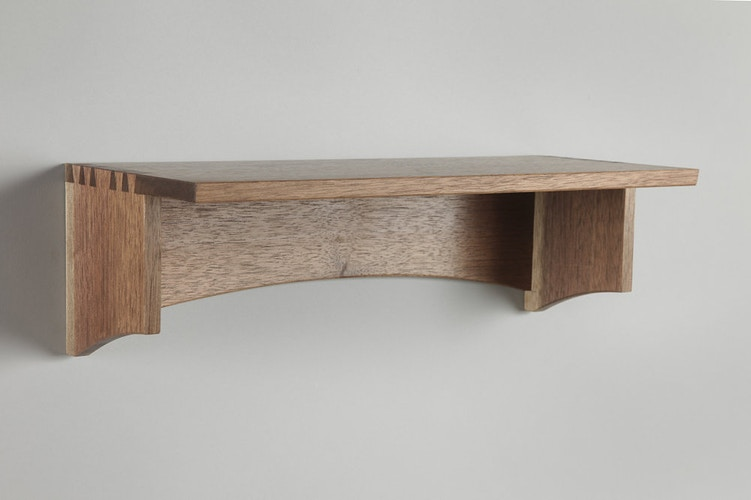 Shelf Shaped Like Oklahoma - Michael Royce Waldeck Woodworker