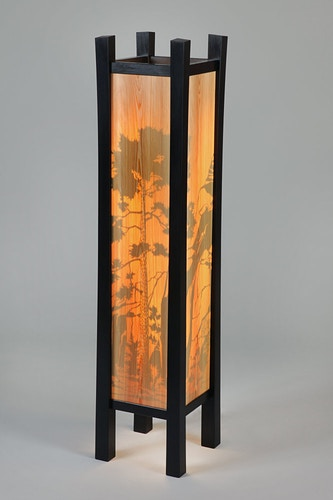 Southwest Floor Lamp - Michael Royce Waldeck Woodworker