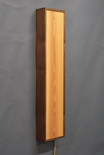 Vertical Wall Sconce - Michael Royce Waldeck Woodworker