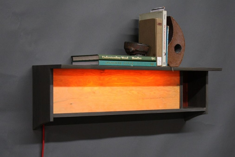 Lamp Shaped Like Oklahoma - Michael Royce Waldeck Woodworker