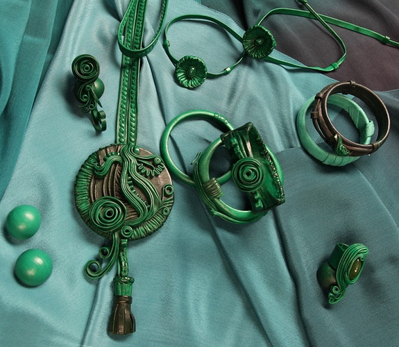 Malachite Set, 1980 - Mila Gokhman