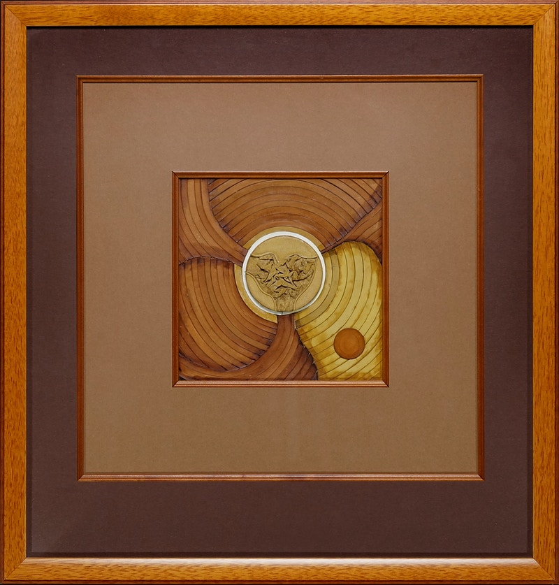 Two Compositions in Yellow, 1968 (left panel) - Mila Gokhman