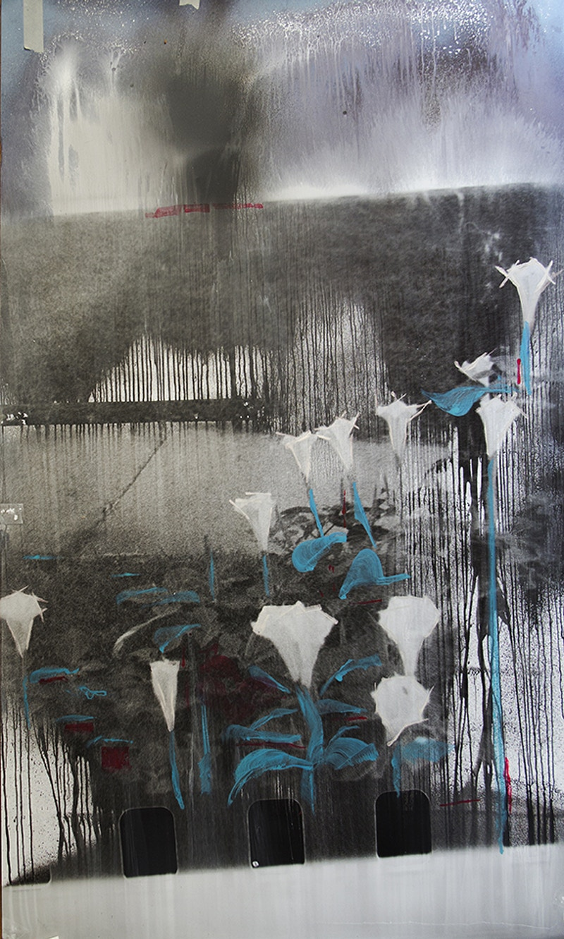 The Difficult Occlusion of Night and Daturas: Number 5 - Michael E Pointer Fine Art