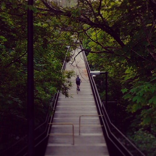 Glen Road Pedestrian (foot) bridge (Bloor entrance) - Photography by Ardean | Toronto Photographer Ardean Peters