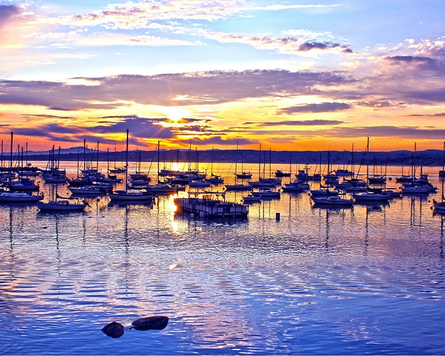 MONTEREY HARBOR AT SUNRISE - NICHOLAS LIMITED EDITION