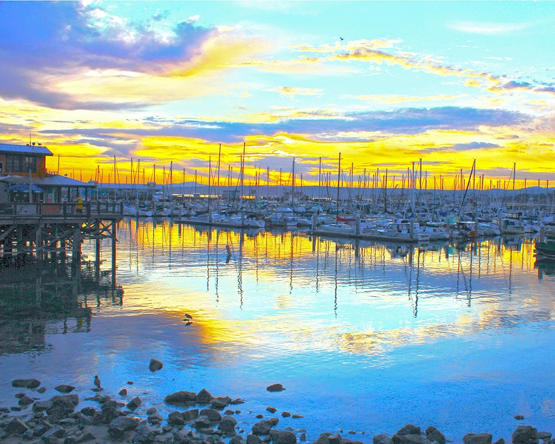 MONTEREY HARBOR AT SUNRISE II - NICHOLAS LIMITED EDITION