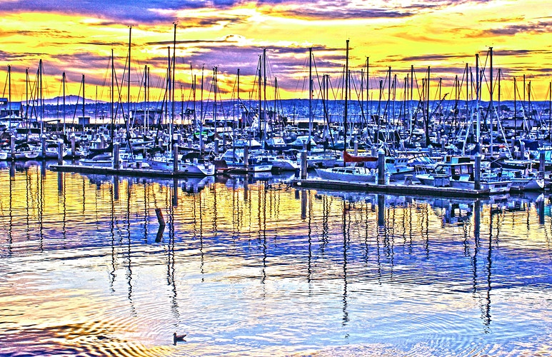 MONTEREY HARBOR AT SUNRISE III - NICHOLAS LIMITED EDITION
